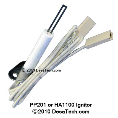 PP201 Ignitor - hot surface ignitor that replaces the HA1100 and 103068-03 Desa Ignitors